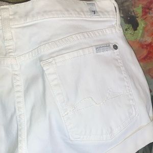 7 for all man kind white shorts